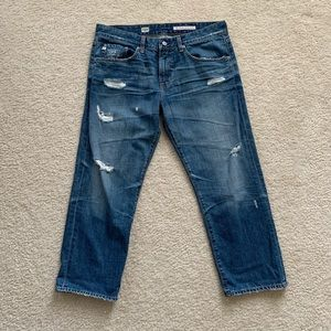 NWOT AG Ex-Boyfriend Mid Rise Crop Jeans Sz 31R